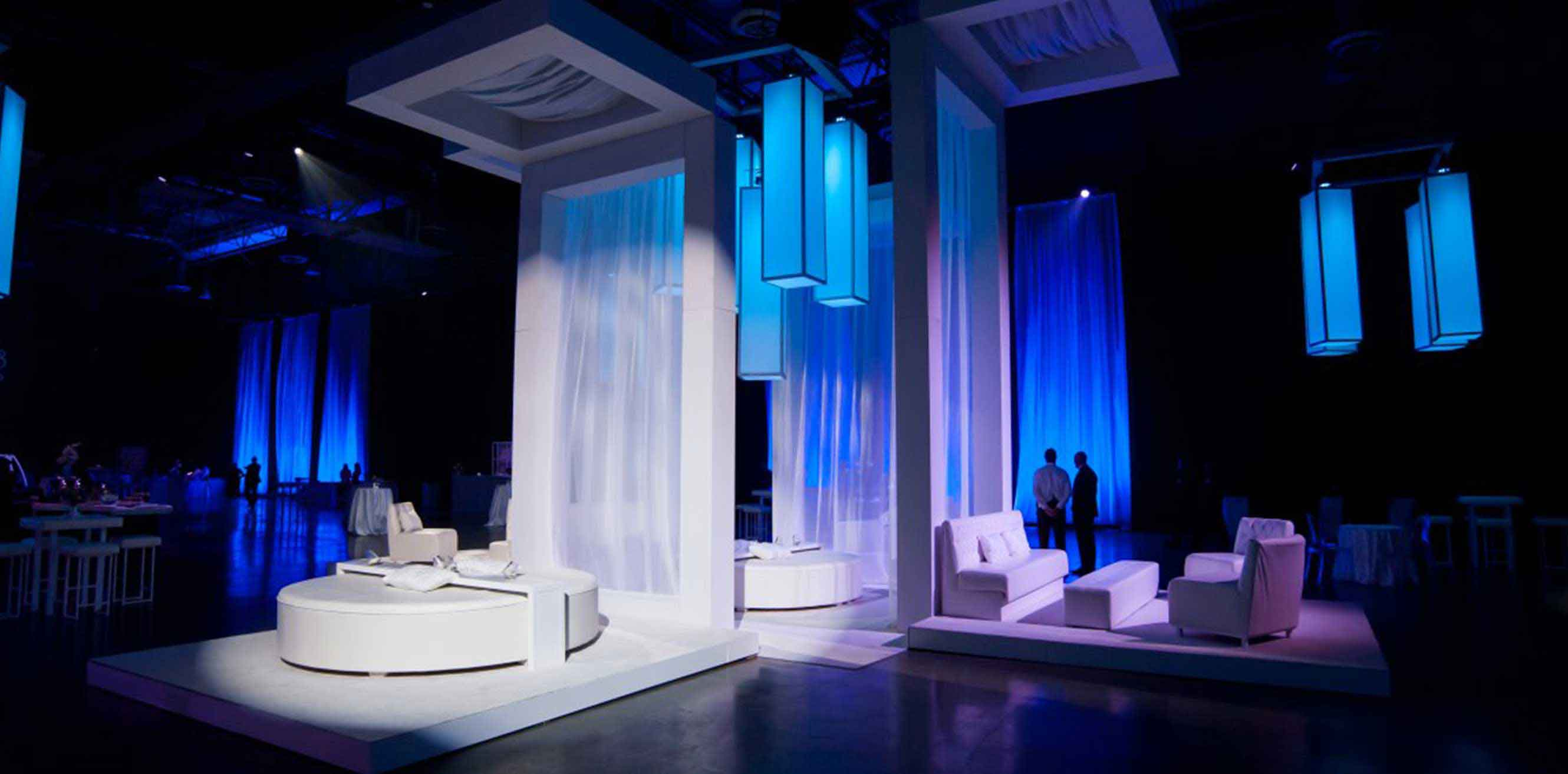 Giant fabricated structures in an event space