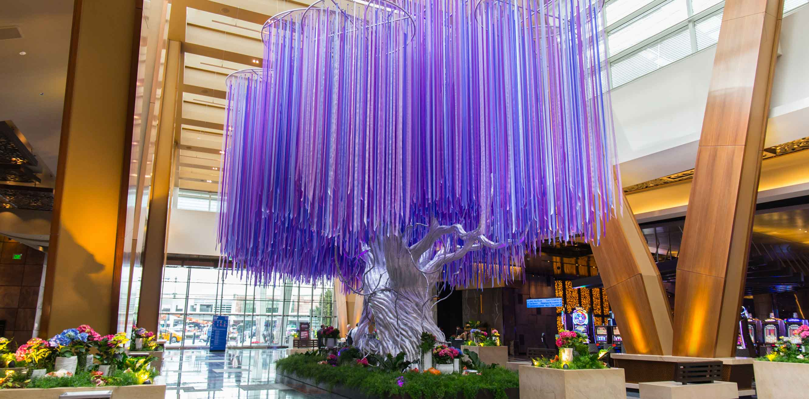 Tree installation in Aria
