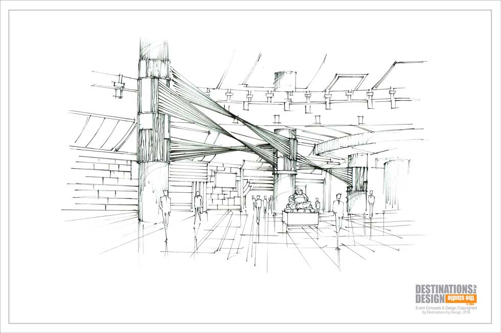 Rendering of installation