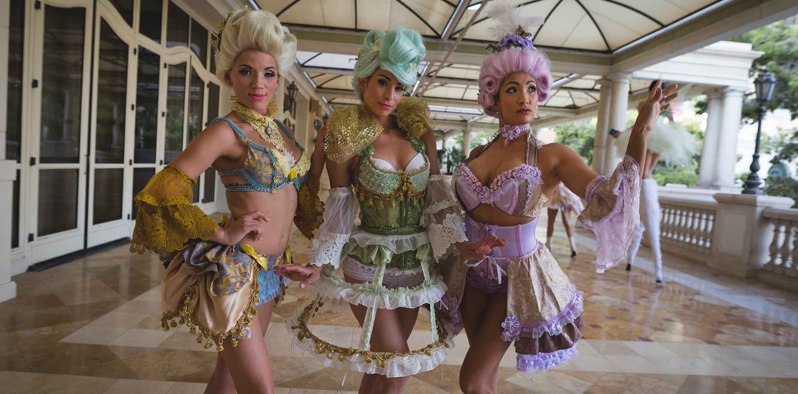 Entertainers in costume