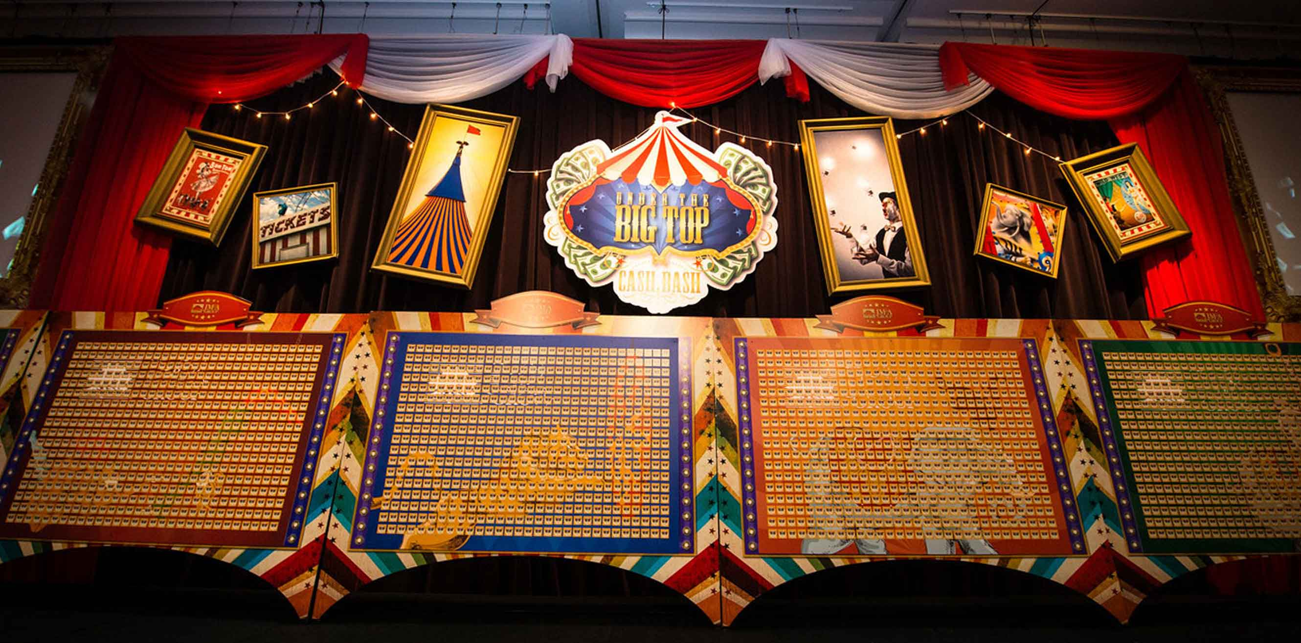 Circus themed signage