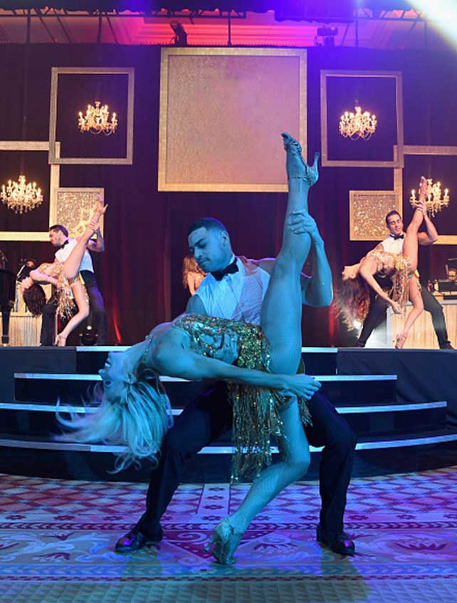 Dancers performing for guests